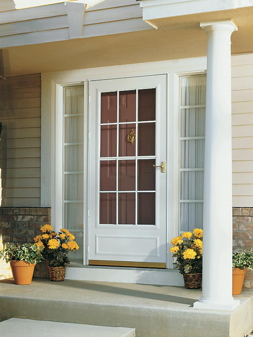 white storm door replacement