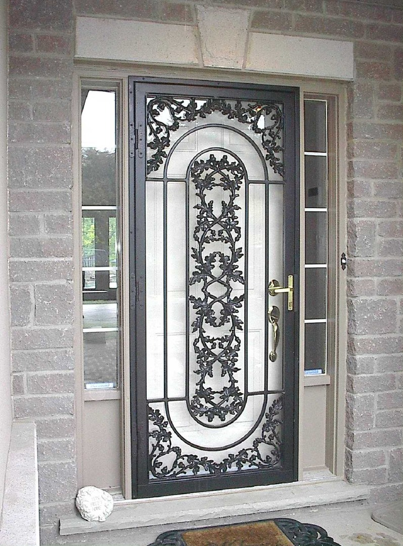 black-vines-storm-door