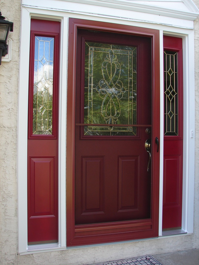 red storm door replacement